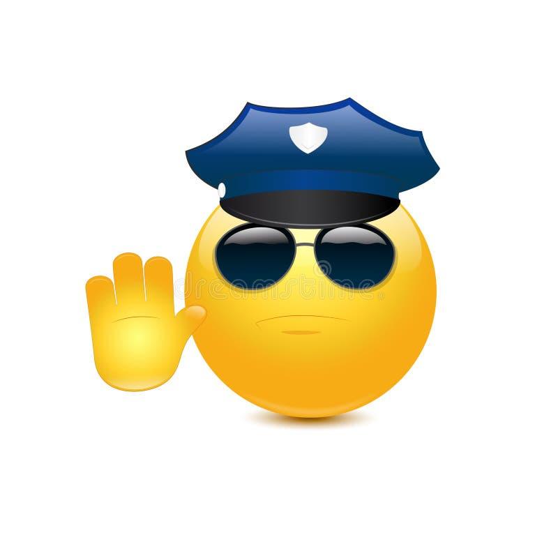 Policía con los vidrios stock de ilustración