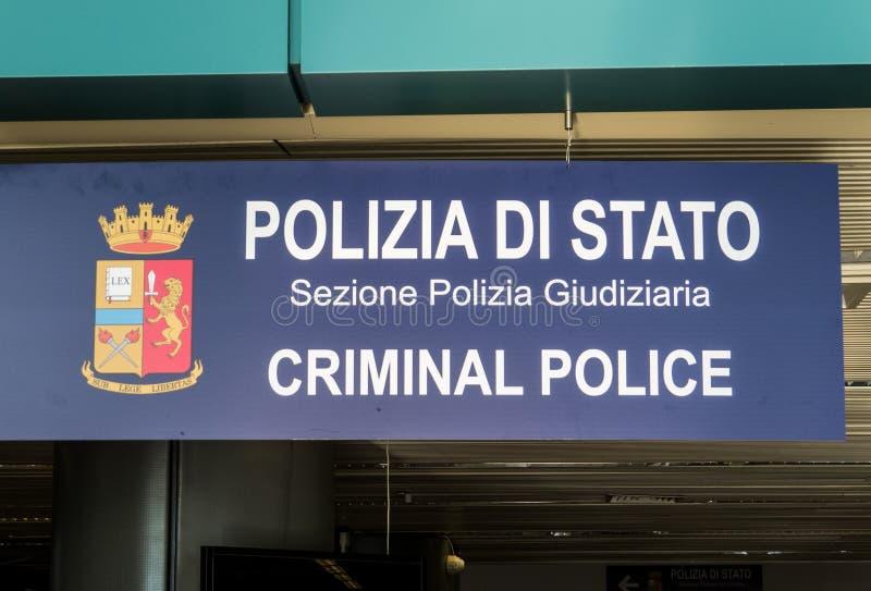Policía criminal italiana foto de archivo