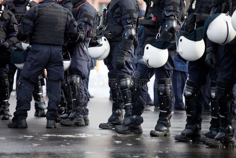 Policía de alboroto imágenes de archivo libres de regalías