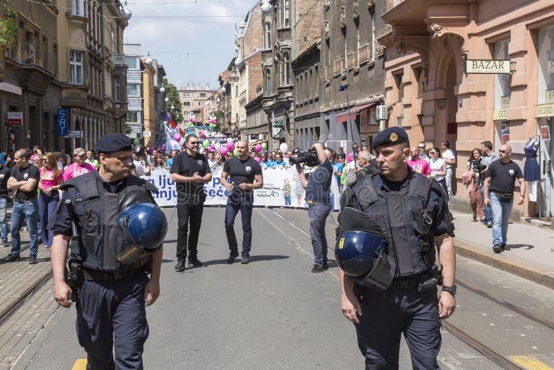 Policía de alborotos anti en Croacia fotografía de archivo