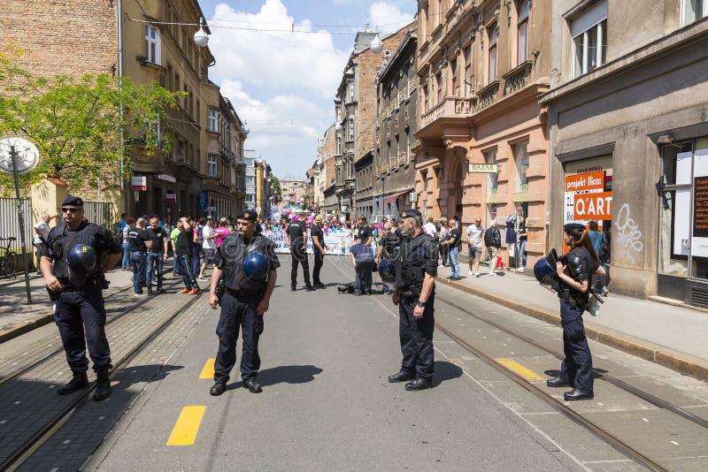 Policía de alborotos anti en Croacia imágenes de archivo libres de regalías