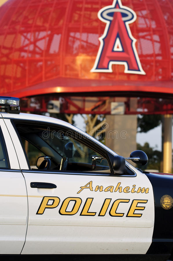 Policía de Anaheim fotografía de archivo libre de regalías