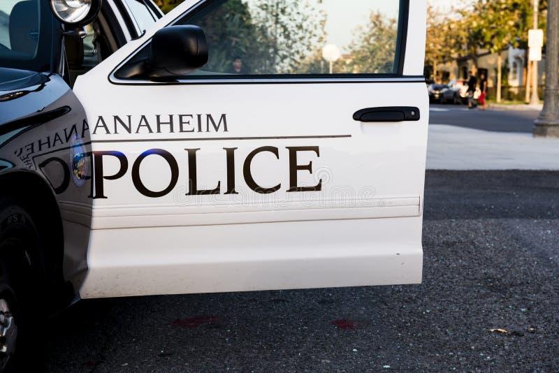 Policía de Anaheim fotografía de archivo