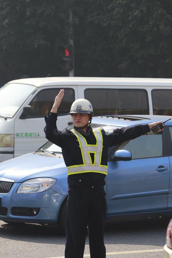 Policía de tráfico fotografía de archivo libre de regalías
