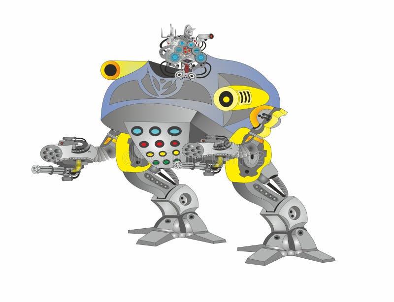 Policía del arma del polluelo del robot stock de ilustración