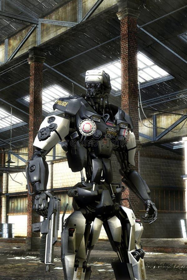 Policía del robot stock de ilustración