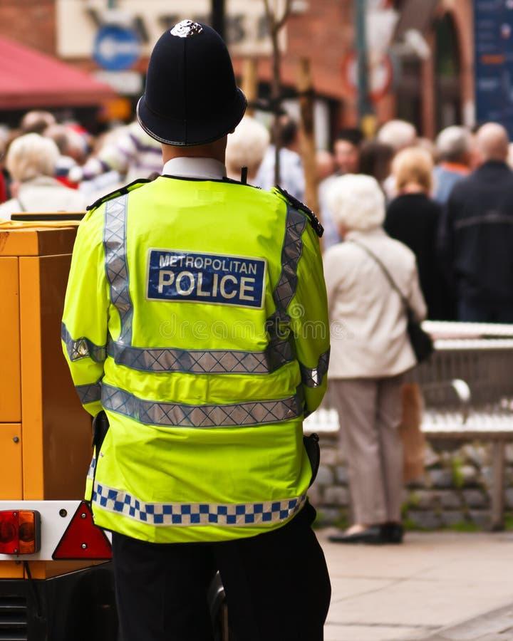 Policía hecha frente foto de archivo