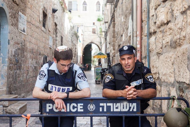 Policía israelí Jerusalén imágenes de archivo libres de regalías