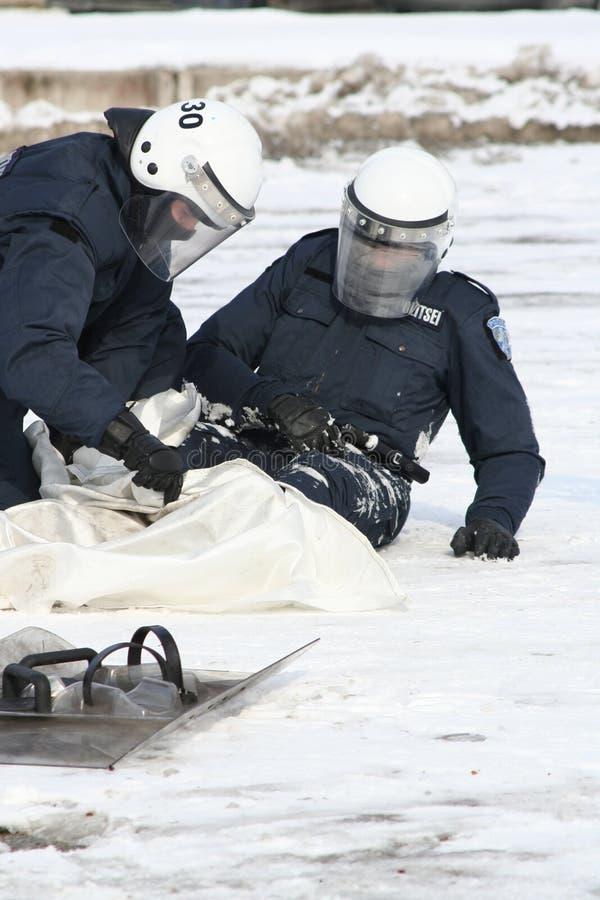 Policía mission2 imagen de archivo libre de regalías