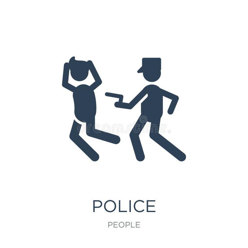 policía que arresta el icono del hombre en estilo de moda del diseño policía que arresta el icono del hombre aislado en el fondo  libre illustration