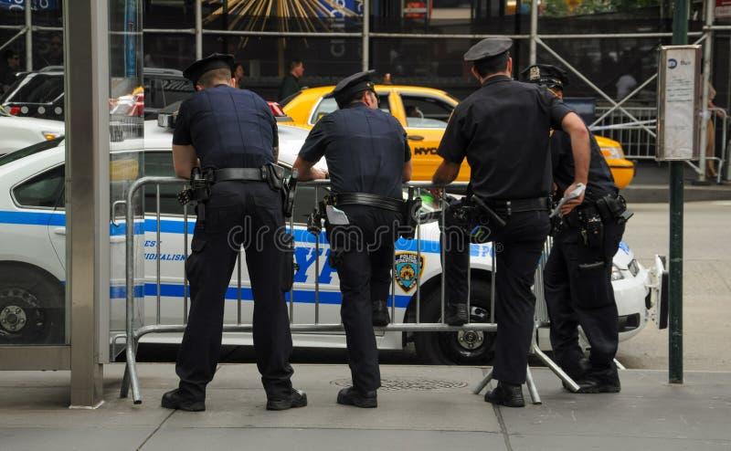 Policías en New York City imagen de archivo libre de regalías