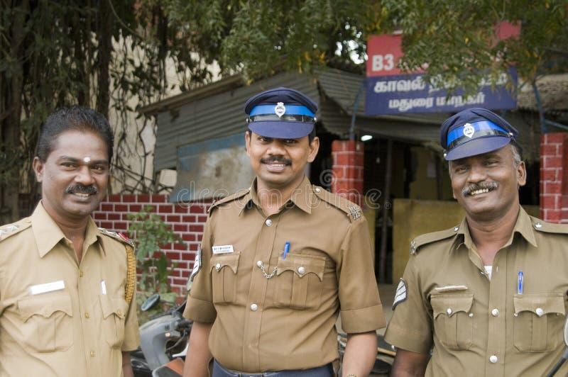 Policías indios cómodos fotos de archivo libres de regalías