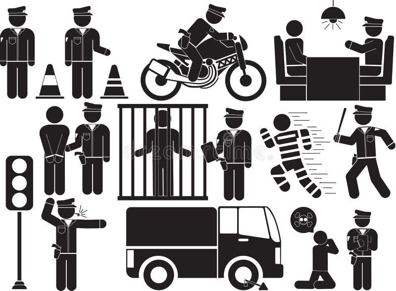 police illustration stock