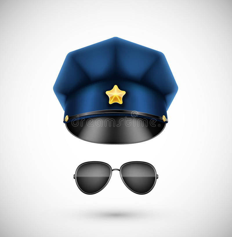 Police accessories royalty free illustration