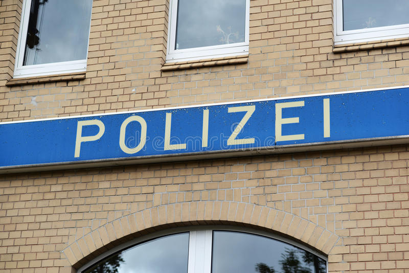 Police allemande image stock