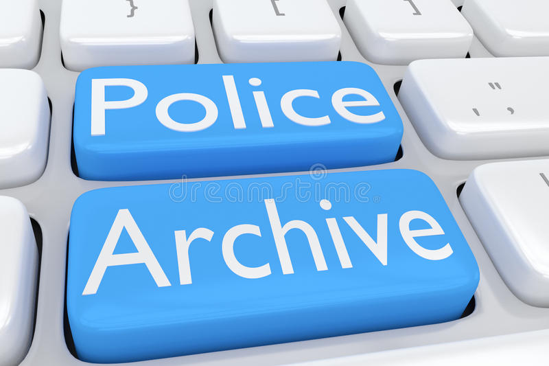 Police Archive concept vector illustration