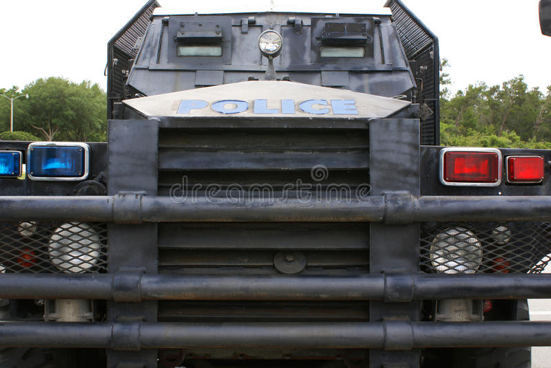 Police armoured vehicle stock images