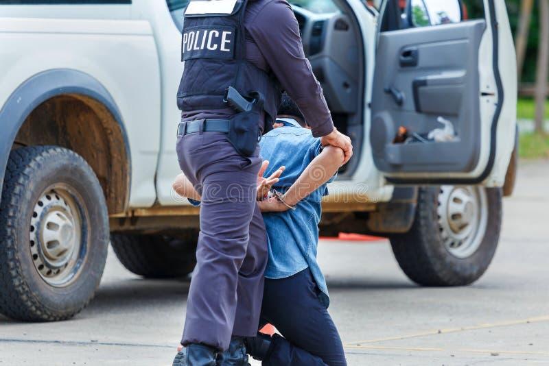 Police arrested,Police,Gun. stock images