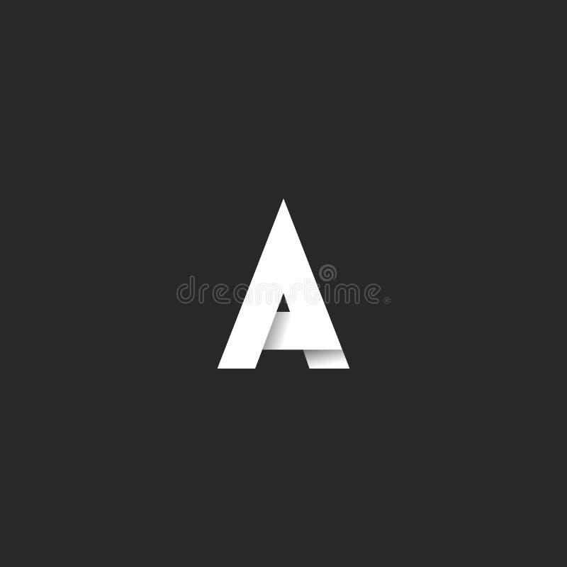 Police audacieuse de lettre du logo A, emblème noir et blanc élégant de style de gradient, élément de conception de typographie d illustration de vecteur