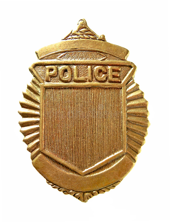 Police Badge. With clipping path stock photos