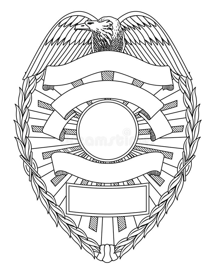 Police Badge Blank royalty free illustration