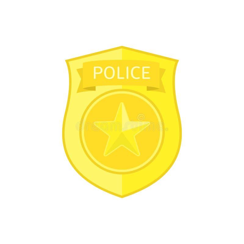 Police badge icon. vector illustration