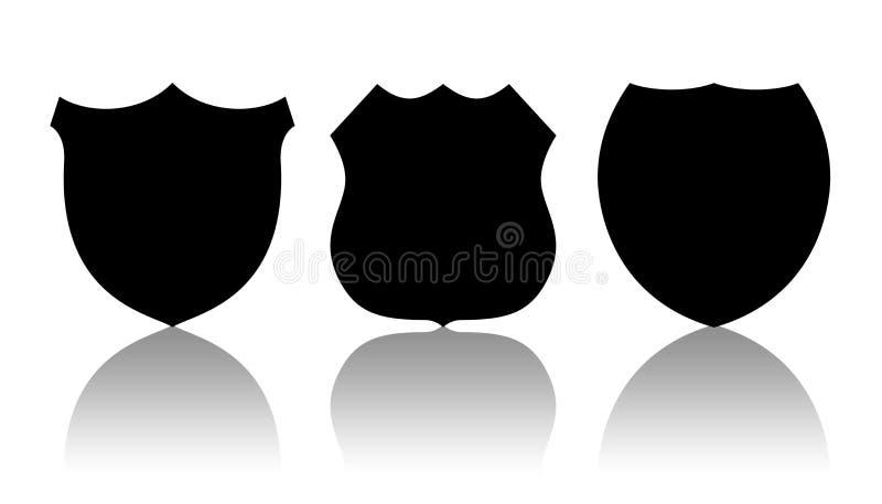 Police badges stock illustration