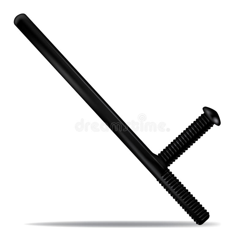 Police baton vector illustration
