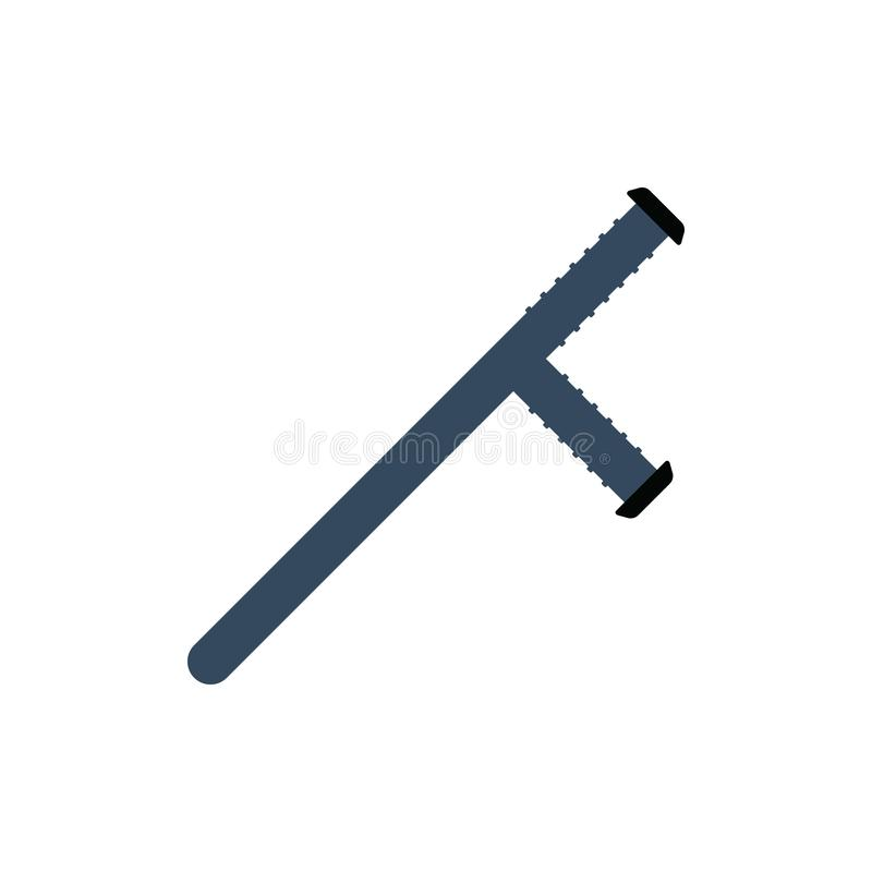 Police baton icon stock illustration