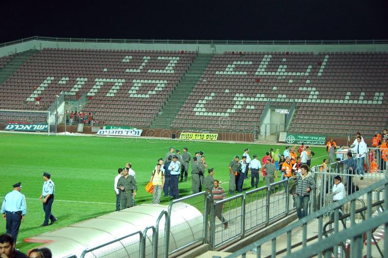 Download Police In Bnei Sakhnin Empty Stadium Editorial Image - Image: 8456675