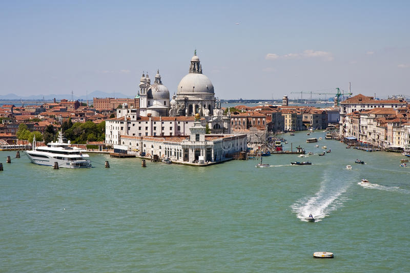 Download Police Boat Coming Out Of The Grand Canal Stock Photo - Image of canal, transportation: 11540548