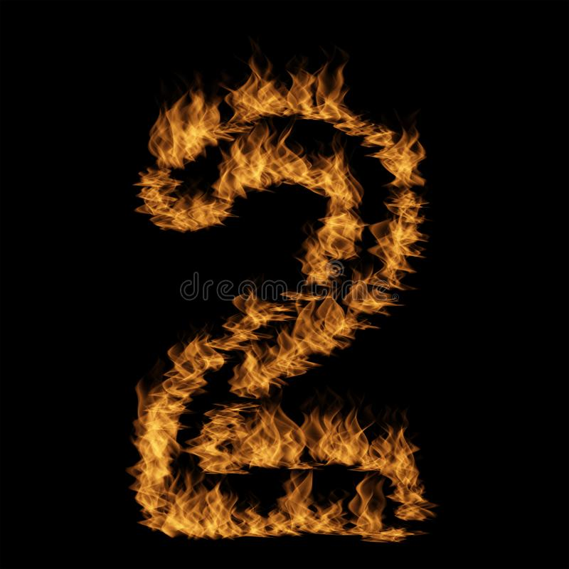 Police brûlante ardente chaude de flamme illustration de vecteur