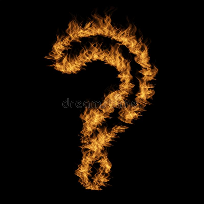 Police brûlante ardente chaude de flamme illustration stock