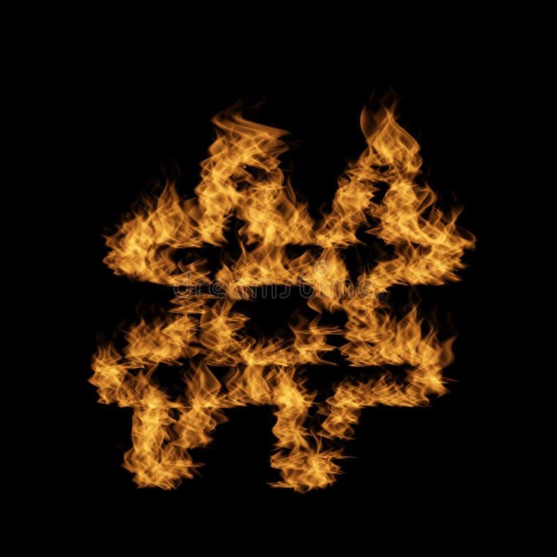 Police brûlante ardente chaude de flamme illustration libre de droits