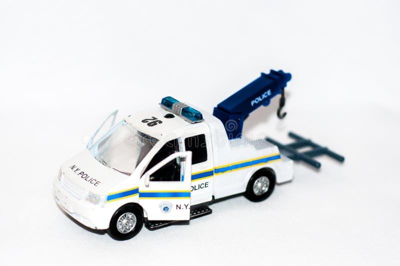 Police breakdown truck stock photography