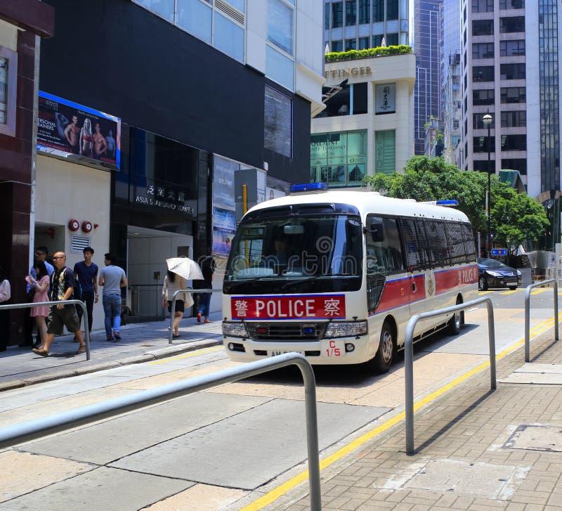 Police bus stock photo