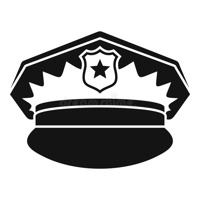 Police cap icon, simple style vector illustration