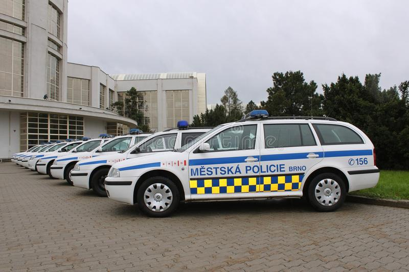Download Police car editorial stock image. Image of protest, group - 19335624