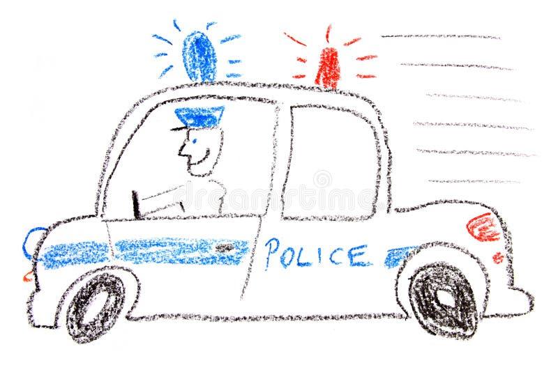Police car stock illustration