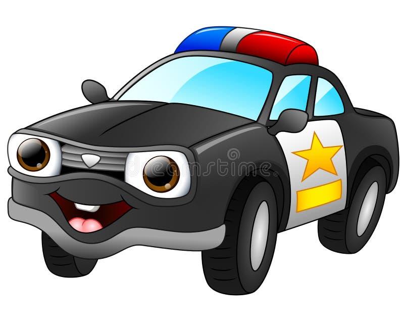 Police car cartoon stock illustration