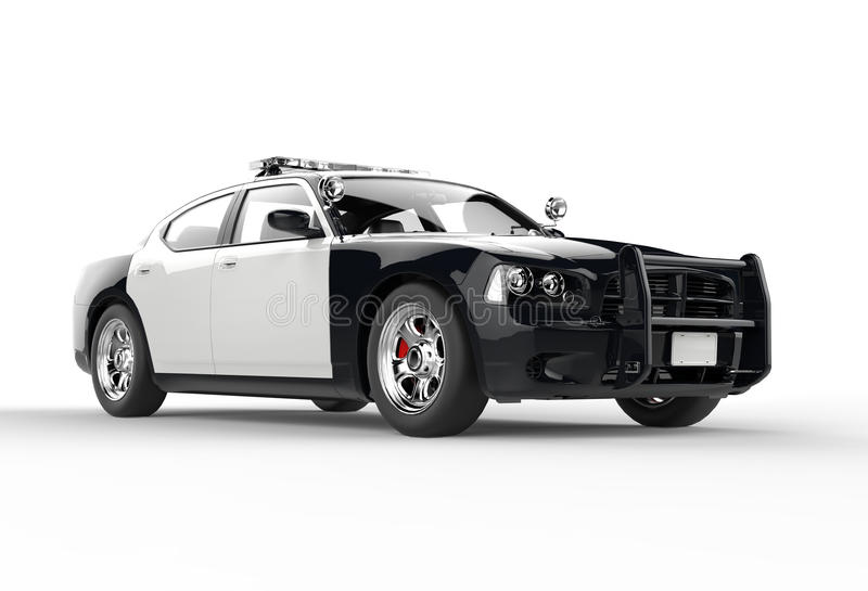Download Police Car Without Decals Far Front Shot Stock Image - Image of patrol, motor: 45066919