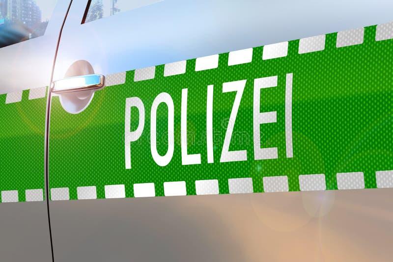 Police car door - accident/ crime news/ breaking news stock illustration