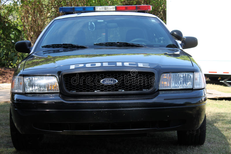 Police car front. Local police patrol car at 2014 Boca Raton Concours royalty free stock photography