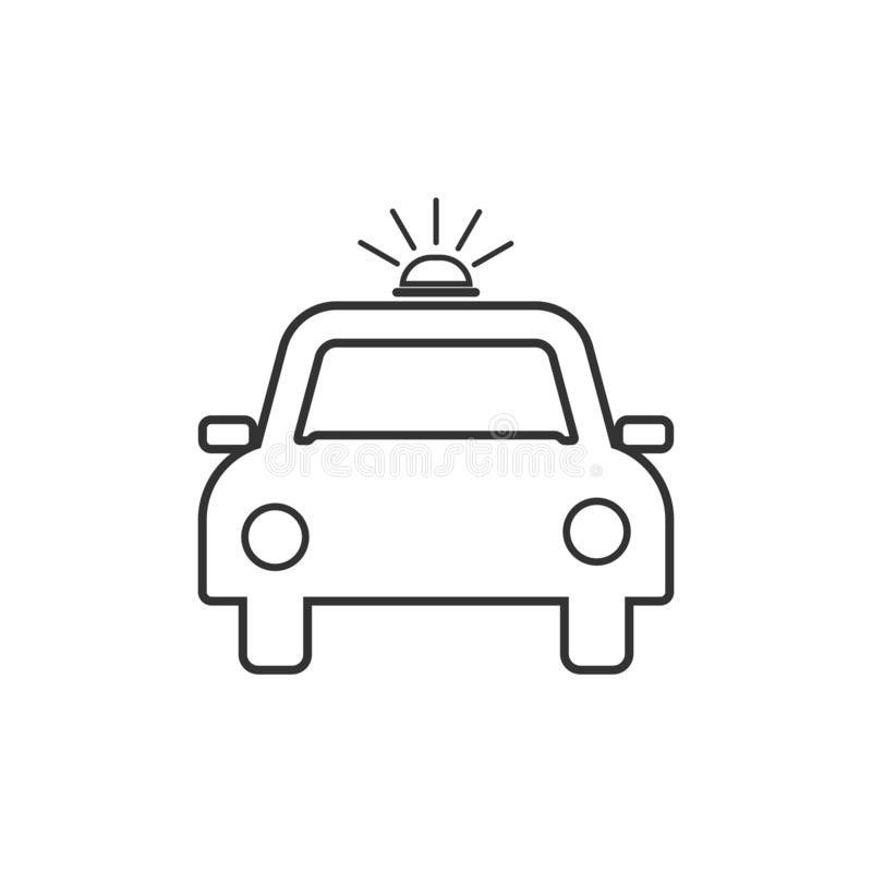 Police car icon. Vector illustrations. Flat design. royalty free illustration
