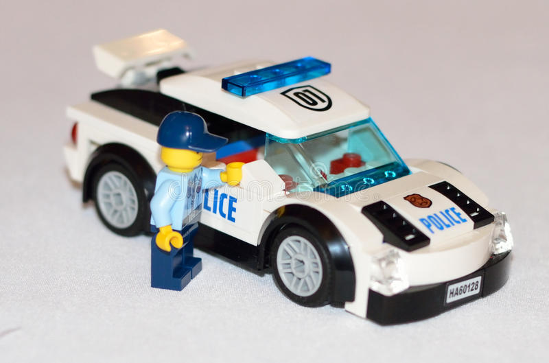 Lego Police car. S and car thieves royalty free stock photography