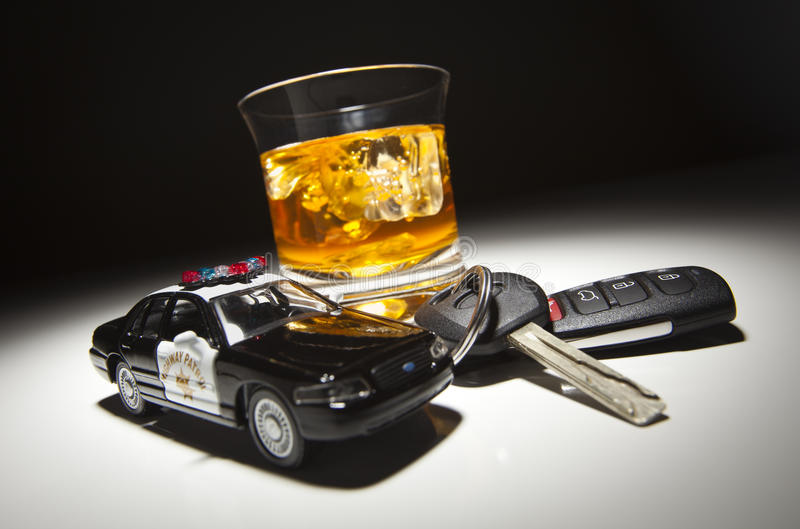 Download Police Car Next To Alcoholic Drink And Keys Stock Image - Image: 19051459