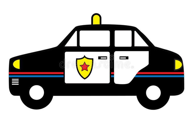Download Police Car toy stock vector. Image of vector, gang, wheels - 14606309