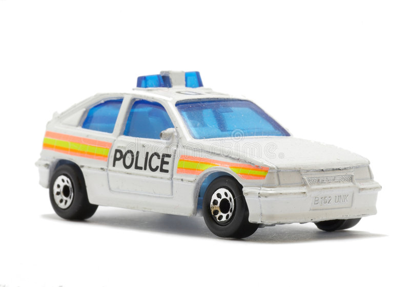 Police car toy stock photo