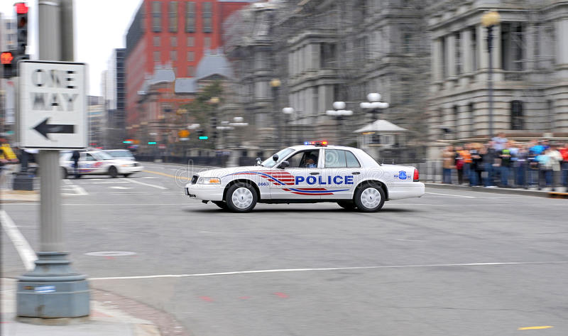 Police Car from Washington DC II. stock photos