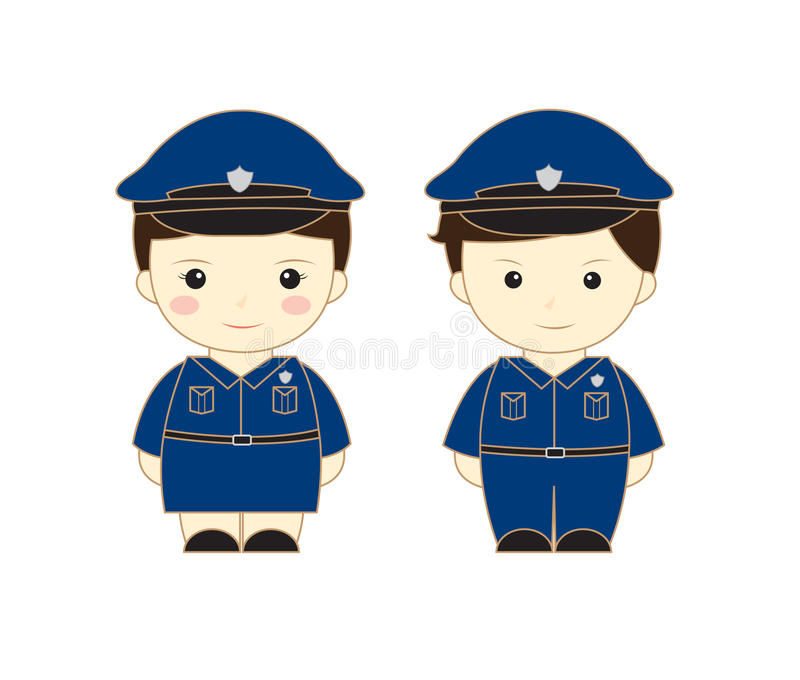 Police cartoon vector illustration